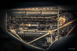 Rolls-Royce Merlin III (1938), flüssigkeitsgekühlter 12-Zylinder-V-Motor, Leistung 1.030 PS, Hubraumm 27 Liter. Einsatz u. a. bei der Hawker Hurricane und Supermarine Spitfire