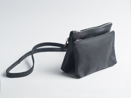 handmade recycled leather black bag