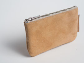 brown recycled leather wallet