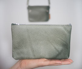 green recycled leather bag