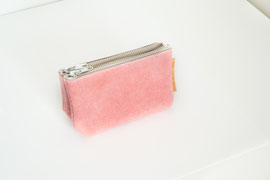 pink recycled leather wallet