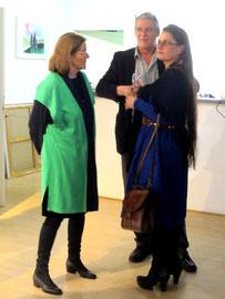 Kunsthalle Soest, Ausstellung Ernst Oldenburg und Tochter, links: Karola Ramas