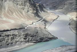Luftaufnahme des Indus, Indienurlaub 1982