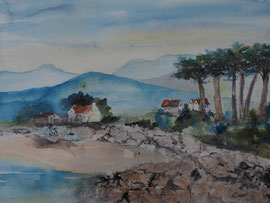 Dingle Peninsula Irland, Aquarell 30x40 cm