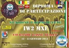 Diploma BBI 2013 de IW2MXE
