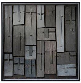 Témoins silencieux 10 - 2013 - Carton & acrylique - 120 x 120 cm