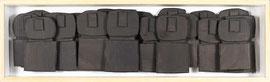Témoins silencieux 6 - 2012 - Carton & acrylique - 117 x 35 cm