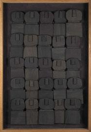 Témoins silencieux 4 - 2012 - Carton & acrylique - 125 x 83 cm