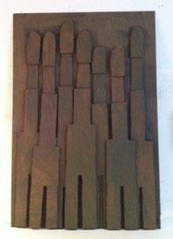 Témoins silencieux 8 - 2012 - Carton & acrylique - 125 x 85 cm