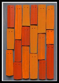 Témoins silencieux 15 - 2013 - Carton & acrylique - 125 x 85 cm
