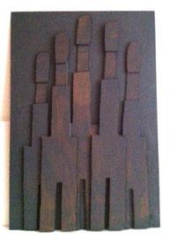 Témoins silencieux 9 - 2012 - Carton & acrylique - 125 x 85 cm