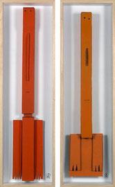 Babylonians 3 - 2009 - Technique mixte sur carton - 117 x 35 cm (2 fois)