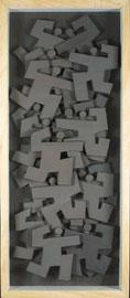 Agitations 6 - 2011 - Technique mixte sur carton - 140 x 60 cm