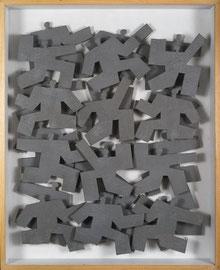 Agitations 5 - 2011 - Technique mixte sur carton - 105 x 84 cm