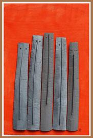 Témoins silencieux 20 - 2014 - Technique mixte sur carton - 128 x 88 cm
