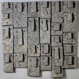 Mur de silences - 2016 - 100 x 100 cm - Polyester et acrylique