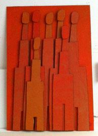 Témoins silencieux 7 - 2012 - Carton & acrylique - 125 x 85 cm