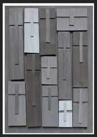 Témoins silencieux 16 - 2013 - Technique mixte sur carton - 125 x 85 cm