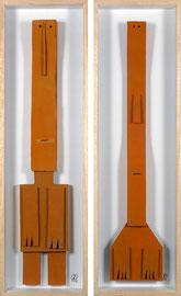 Babylonians 1 - 2009 - Technique mixte sur carton - 117 x 35 cm (2 fois)