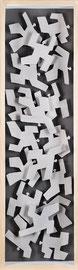 Agitations 3 - 2011 - Aluminium peint et carton - 117 x 35 cm