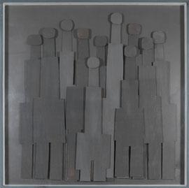 Témoins silencieux 5 - Carton & acrylique - 150 x 150 cm