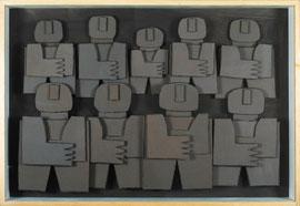 Témoins silencieux 2 - 2012 - Carton & acrylique - 140 x 60 cm