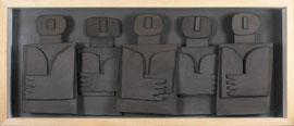 Témoins silencieux 3 - 2012 - Carton & acrylique - 117 x 80 cm