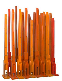 Babel's Architects - 2009 -  17 sujets  - Technique mixte sur carton - 240 x 200 x 80 cm
