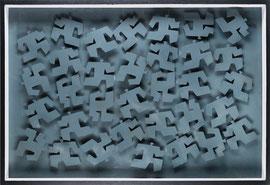 Agitations 2 - 2011 - Aluminium peint - 124 x 84 cm
