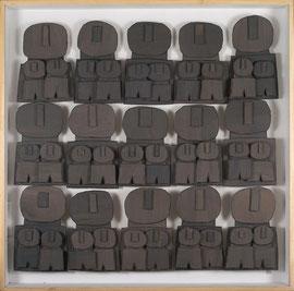 Témoins silencieux 1 - 2012 - Carton & acrylique - 120 x 120 cm