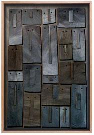 Témoins silencieux 11 - 2013 - Carton & acrylique - 120 x 85 cm