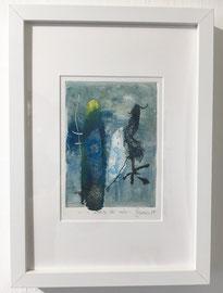 La forme et la naissance, 2018, incisione a olio, 11 x 15 cm (cornice 23 x 33 cm). Esemplare unico