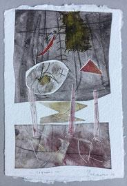 Legami, 2013, incisione a olio, 25 x 36 cm. Esemplare unico