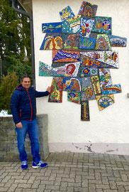 Albero - Vita, mosaico alla Elisabeth Müller Schule, Wabern Bern (Svizzera)