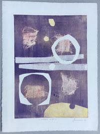 Mistero in blu, 2006, incisione a olio, 30 x 40 cm. Esemplare unico
