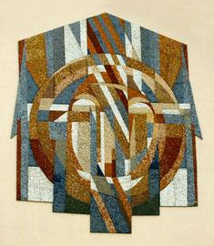 Il volto di cristo, 2003, mosaico in pietre naturali, ca. 20mq (Chiesa di Canobbio, Svizzera)
