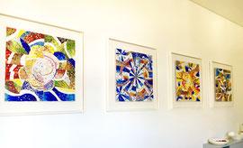 Le quattro stagioni, mosaico in vetro e pietre naturali,  (Casa privata, Lumino - CH)