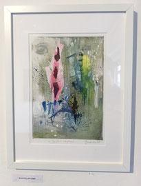 Joyful rhythms, 2018, incisione a olio, 19 x 27 cm (cornice 33 x 43 cm). Esemplare unico