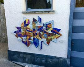 Natura e splendore, 2016, mosaico in vetri e marmi, 235 x 140 cm (Casa Domenica, Arosio, Svizzera)