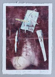 Forma nella notte, 2013, incisione a olio, 25 x 36 cm. Esemplare unico