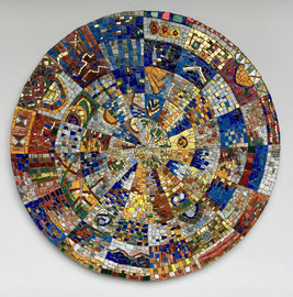 Spirale magica, 2017, mosaico, 72 cm