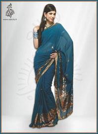sari indien indigo