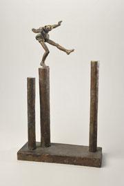 Säulenspringer -Bronze - H 37 cm - 2003