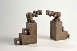 Erkenntnisversuch -Bronze - L 28 cm-  2005