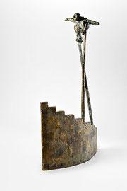 Stelzenläufer - Bronze - H 38 cm - 2003