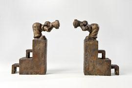 Erkenntnisversuch - Bronze - H 28 cm - 2005
