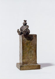Thronender König - Bronze - H 19 cm - 1999