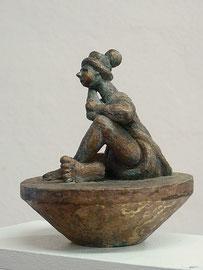 In sich  -Bronze - H 16 cm - 2015