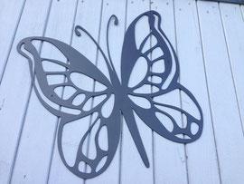 Papillon en tôle de 3mm noir mat hauteur 50cm