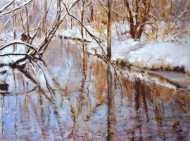Down By The Water Nr. 4, Öl_Lwd. 75x100cm
